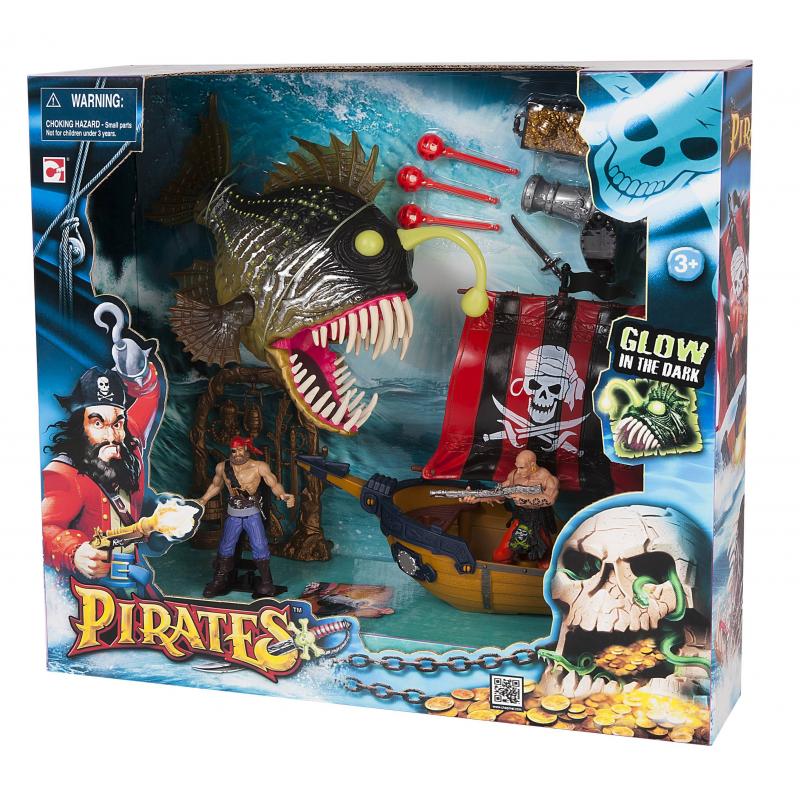 CHAPMEI Игровой набор Пираты. Одномачтовый шлюп и Рыба-монстр