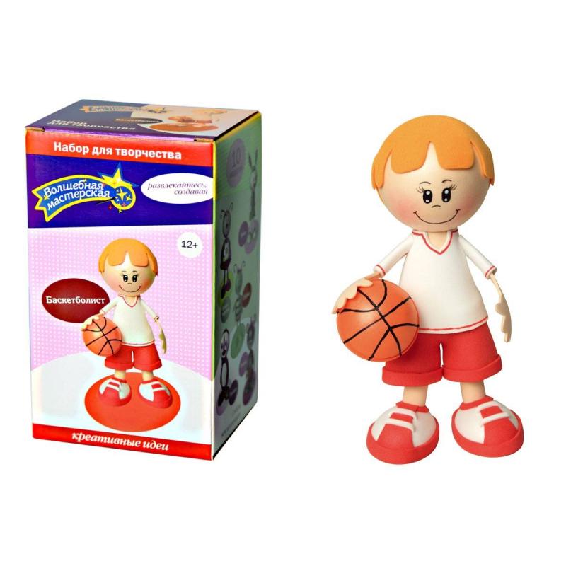 Волшебная мастерская Набор для творчества Создай куклу Баскетболист наборы для творчества волшебная мастерская набор для творчества создай куклу божья коровка