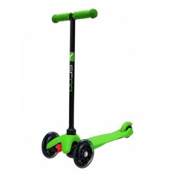 Спорт и отдых, Самокат Mini A5 Shine со светящимися колесами Y-SCOO (зеленый)638715, фото