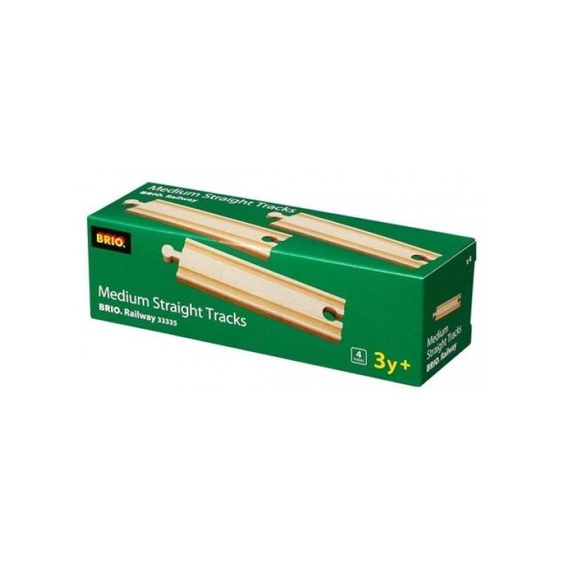 Набор прямых полотен для деревянной железной дороги 14,4 см