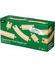Набор базовых элементов для деревянной железной дороги 11 шт BRIO