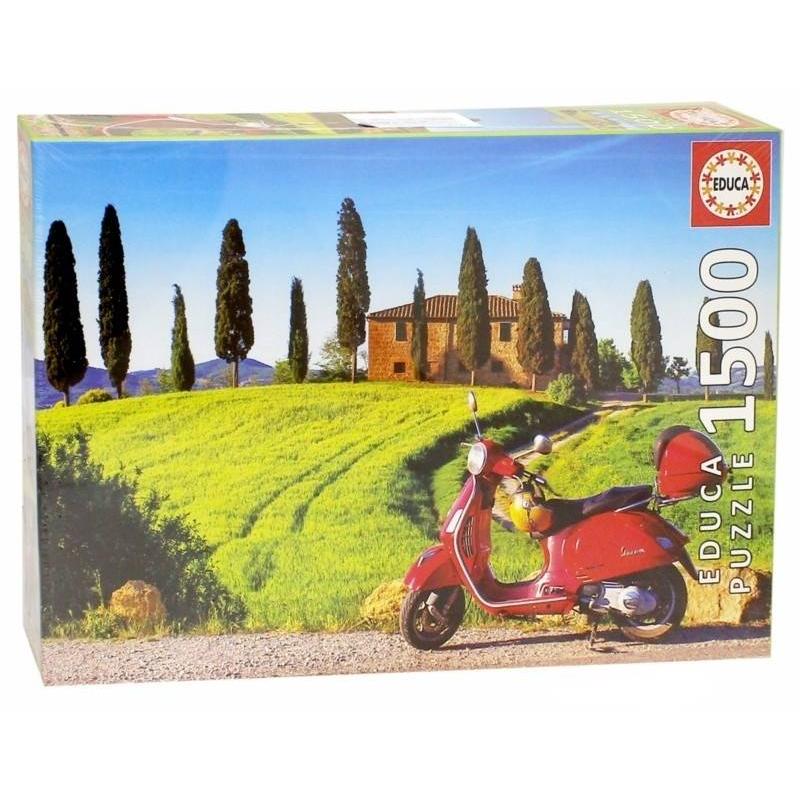 Educa Пазл Скутер в Тоскане 1500 деталей скутер в кредит спб