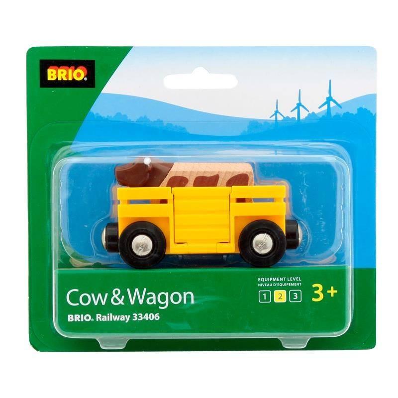 BRIO Игровой набор Вагончик с коровой
