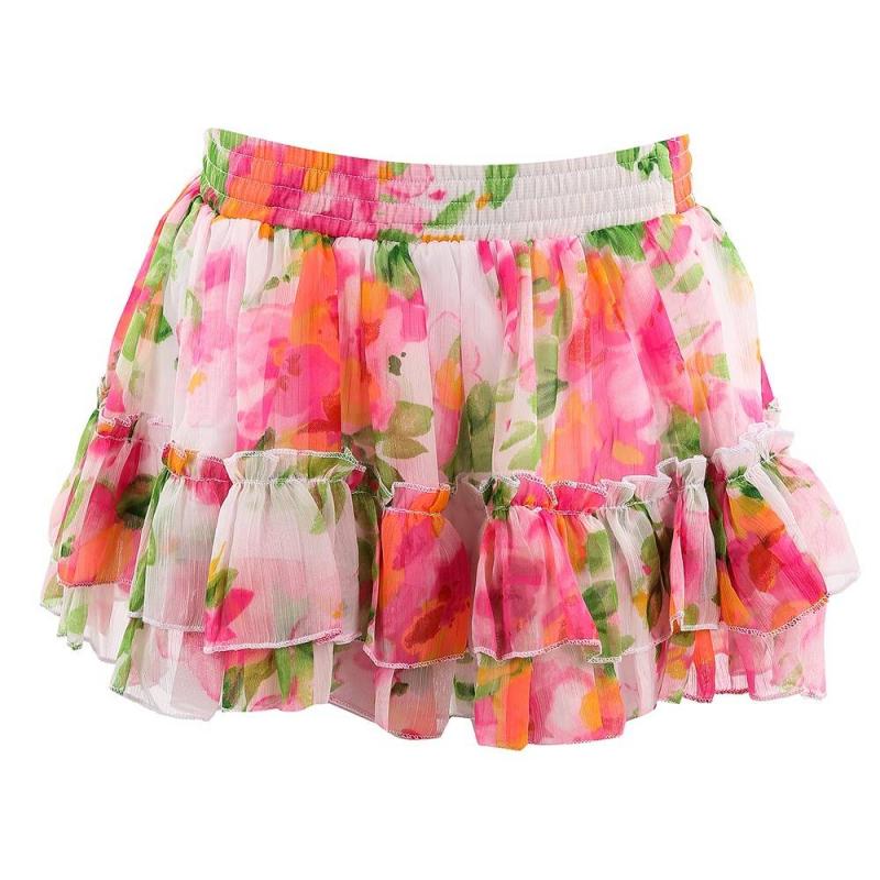 ЮбкаРозовая юбка с цветочным принтом марки Fox для девочек. Летняя юбка на резинке выполнена из воздушного полиэстера, украшенного цветочным принтом. Дополнена подкладкой из натурального хлопка и крупной рюшей на подоле.<br><br>Размер: 4 года<br>Цвет: Розовый<br>Рост: 104<br>Пол: Для девочки<br>Артикул: 609924<br>Страна производитель: Индия<br>Сезон: Весна/Лето<br>Состав верха: 100% Полиэстер<br>Состав подкладки: 100% Хлопок<br>Бренд: Израиль