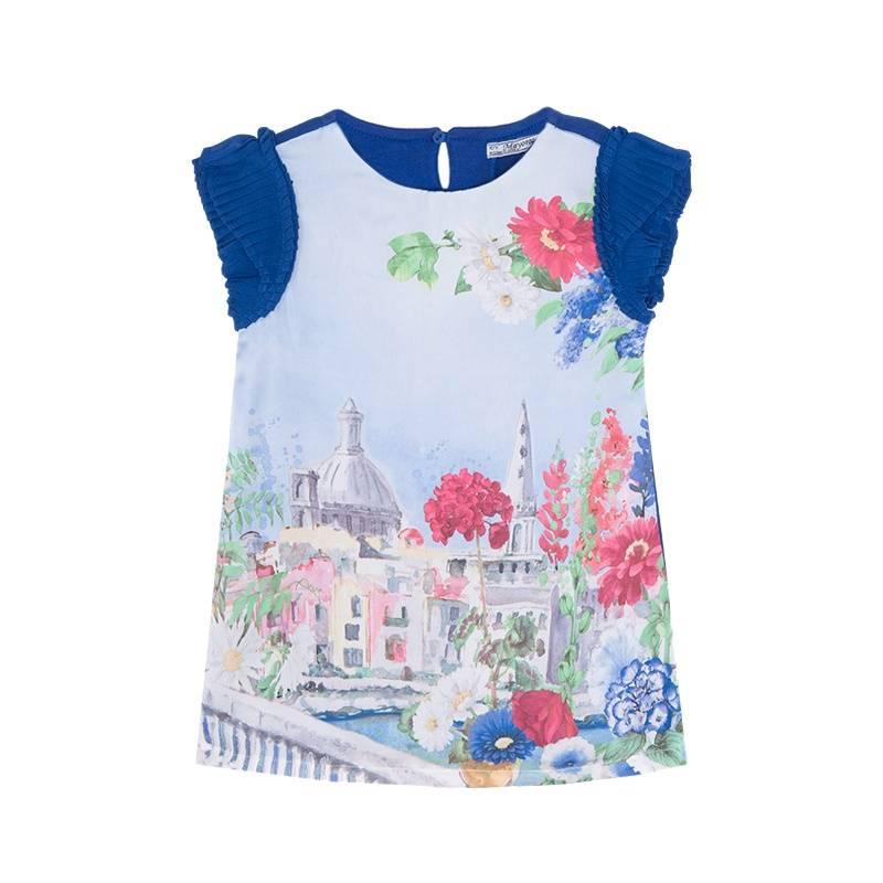 Купить Платье, MAYORAL, Синий, 2 года, Для девочки, 422392, Весна/Лето, Китай