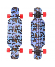 "Скейтборд Longboard Shark TIR 31"" Blue Army"