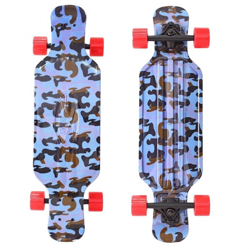 Y-SCOO Скейтборд Longboard Shark TIR 31 Blue Army