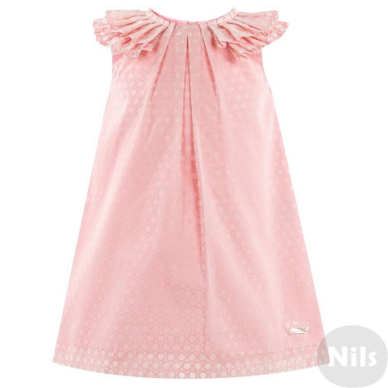 MAYORAL Платье платье голубое в белый горошек