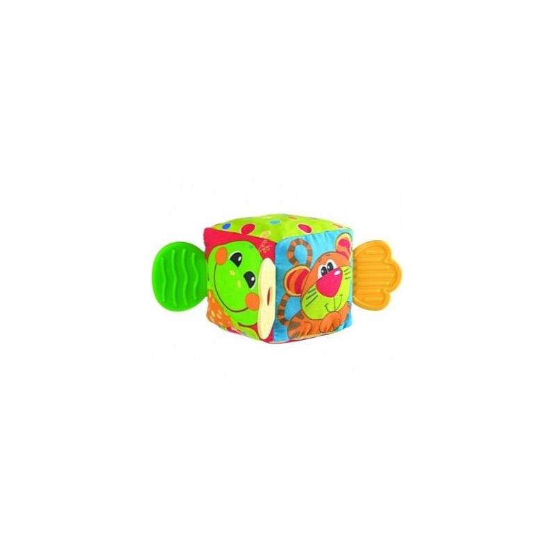 Playgro Кубик-прорезыватель с погремушкой прорезыватели playgro книжка прорезыватель ферма