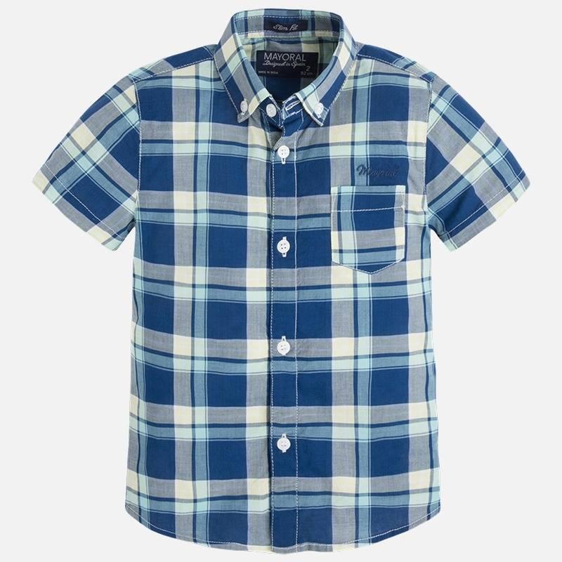 MAYORAL Рубашка рубашка в клетку из денима gamix3