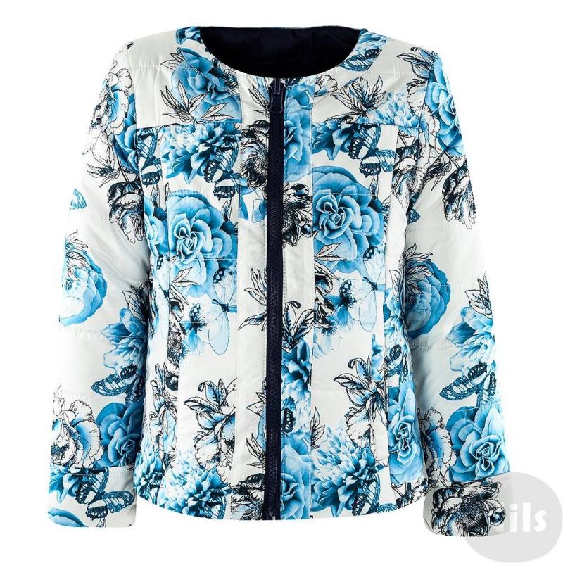 КурткаДвухсторонняя куртка темно-синего цвета марки SARABANDA для девочек. Легкая демисезонная куртка без воротничка имеет по два кармана с каждой стороны, застегивается на молнию. Одна сторона однотонная темно-синяя, другая - с цветочным принтом.<br><br>Размер: 8 лет<br>Цвет: Темносиний<br>Рост: 128<br>Пол: Для девочки<br>Артикул: 611149<br>Страна производитель: Китай<br>Сезон: Всесезонный<br>Состав: 100% Полиэстер<br>Состав подкладки: 100% Полиамид<br>Бренд: Италия<br>Вид застежки: Молния<br>Наполнитель: 100% Полиэстер