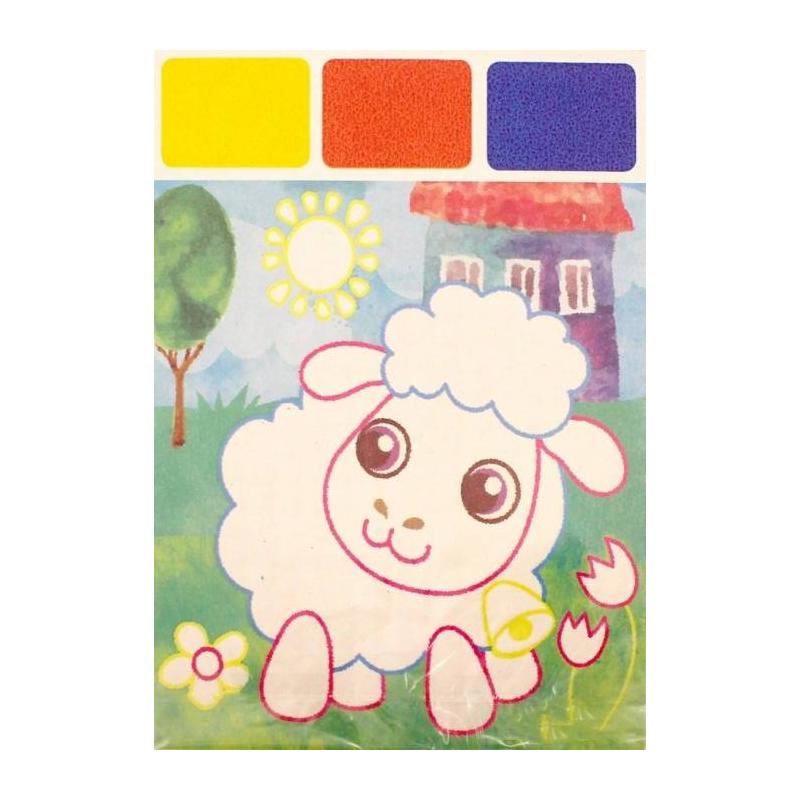 Раскраска Акварель для самых маленьких Овечка