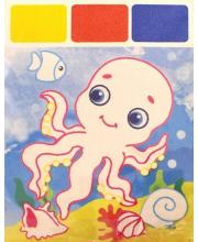 Раскраска Акварель для самых маленьких Осьминог Феникс