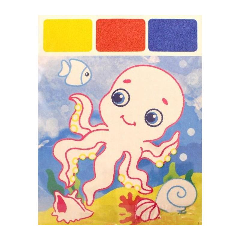 Раскраска Акварель для самых маленьких Осьминог