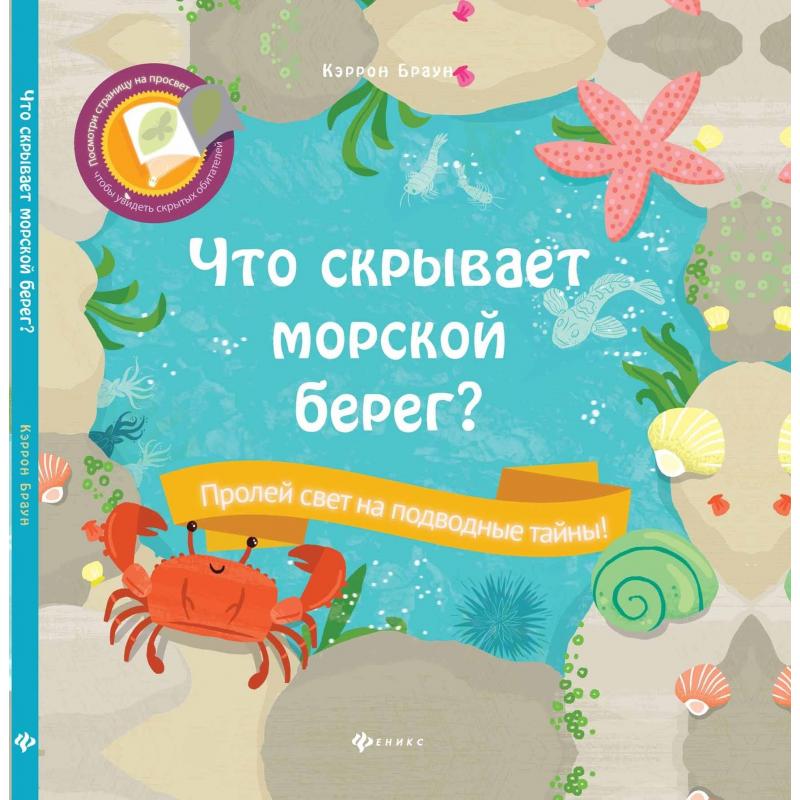 Феникс Развивающая книга Что скрывает морской берег?