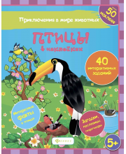 Развивающая книжка Птицы в наклейках Феникс