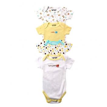 Малыши, Комплект боди 4 шт. LUVABLE FRIENDS (желтый)611376, фото