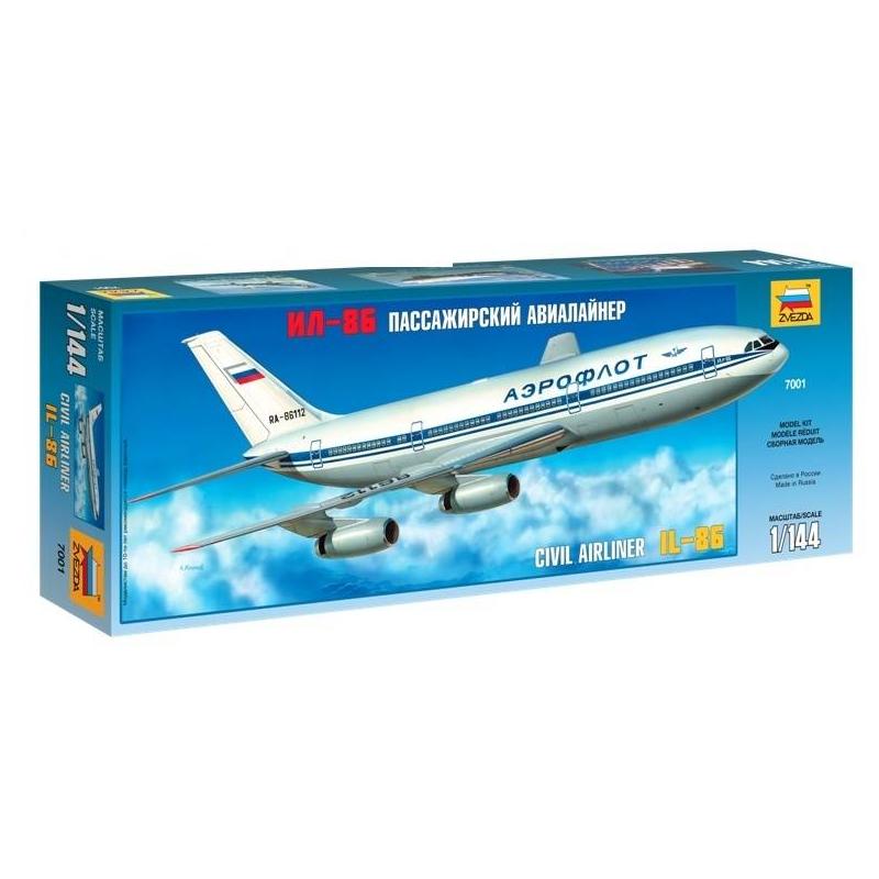 ZVEZDA Модель для склеивания Авиалайнер Ил-86 купить готовую модель ил 86
