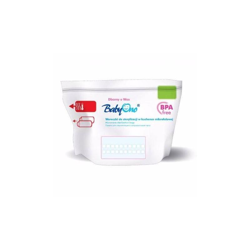 BabyOno Пакеты для стерилизации в микроволновой печи 5 шт подогреватели и стерилизаторы babyono пакеты для стерилизации в микроволновой печи 5 шт