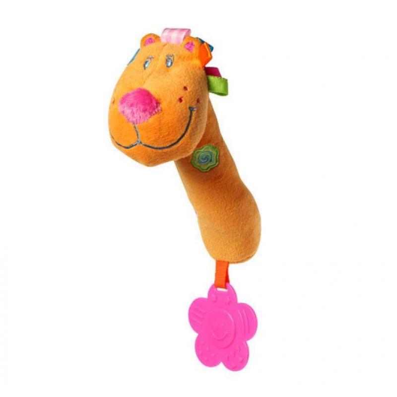 BabyOno Игрушка пищащая с прорезывателем Лев babyono развивающая игрушка гимнастика малыша