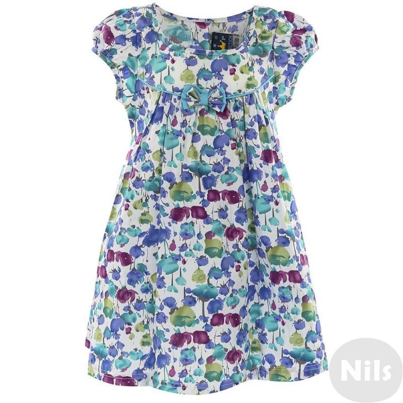 ПлатьеПлатье голубогоцвета с ярким цветочным принтом для девочек LP Collection. Платье на кокетке скоротким рукавомукрашенобантиком на груди. Талия регулируется с помощью пояса, который можно завязывать бантом сзади. Платье застегивается на пуговицы на спинке.<br><br>Размер: 2 года<br>Цвет: Голубой<br>Рост: 92<br>Пол: Для девочки<br>Артикул: 611467<br>Страна производитель: Таиланд<br>Сезон: Весна/Лето<br>Состав: 100% Хлопок<br>Бренд: Таиланд