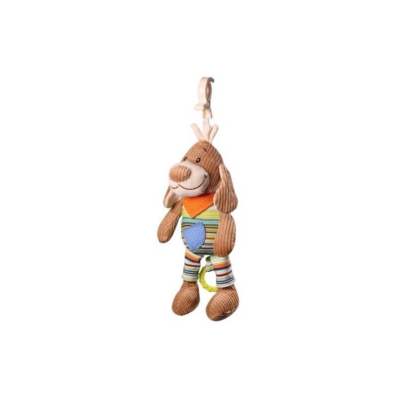 BabyOno Музыкальная игрушка-подвеска Собачка babyono развивающая игрушка гимнастика малыша