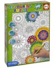 Пазл-раскраска Цветы 300 деталей Educa