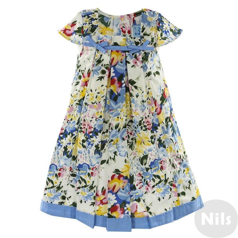 ПлатьеПлатье голубогоцвета с коротким рукавом для девочки LP Collection. Платье с коротким рукавом и вырезом квадратной формы декорировано складками спереди, а также двумя бантиками из тесьмы на груди. Застегивается на пуговицы на спинке.<br><br>Размер: 2 года<br>Цвет: Голубой<br>Рост: 92<br>Пол: Для девочки<br>Артикул: 611540<br>Страна производитель: Таиланд<br>Сезон: Весна/Лето<br>Состав: 100% Хлопок<br>Бренд: Таиланд