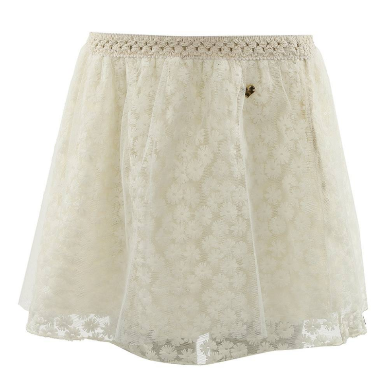 ЮбкаЮбка Frankomina mini бежевого цвета для девочек. Нарядная юбка состоит из трех слоев: фатина и подкладки. Средний слой фатина украшен вышитыми цветамибелого цвета. Подкладка выполнена из трикотажа на основе хлопка.<br><br>Размер: 5 лет<br>Цвет: Бежевый<br>Рост: 110<br>Пол: Для девочки<br>Артикул: 611772<br>Бренд: Италия<br>Страна производитель: Китай<br>Сезон: Весна/Лето<br>Состав: 100% Хлопок