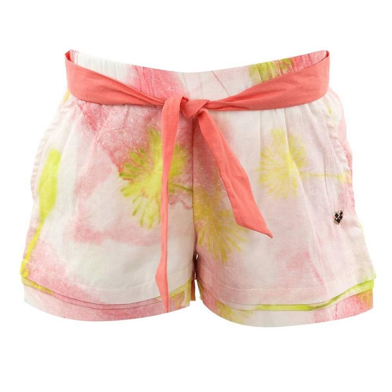 ШортыШорты Fracomina mini розового цвета для девочек. Удобные шорты свободного кроя с поясом на резинке изготовлены из натурального хлопка с принтом в пастельных тонах, имеют два кармана, дополнены тканевым поясом.<br><br>Размер: 4 года<br>Цвет: Розовый<br>Рост: 104<br>Пол: Для девочки<br>Артикул: 611786<br>Страна производитель: Индия<br>Сезон: Весна/Лето<br>Состав: 100% Хлопок<br>Бренд: Италия