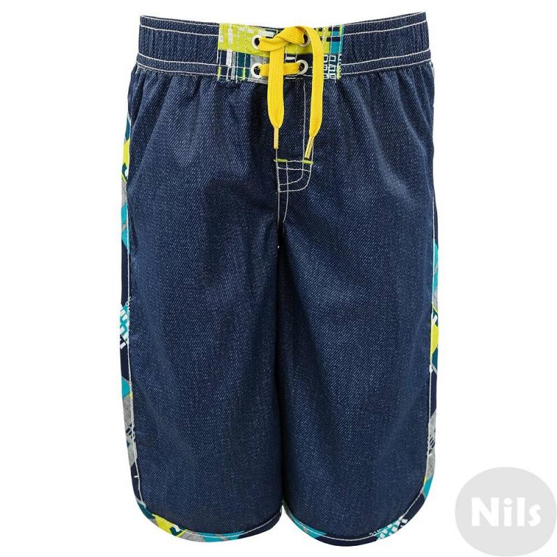 Шорты для купанияШорты для плавания темно-синего цвета маркиDeux par Deux для мальчиков. Шорты для купания выполнены из быстросохнущего материала с принтом, имитирующим деним. Подкладка из специальной сеточки. Шорты имеют удобный пояс на резинке с декоративными завязками, а также кармашек на липучке сзади.<br><br>Размер: 5 лет<br>Цвет: Темносиний<br>Рост: 110<br>Пол: Для мальчика<br>Артикул: 611760<br>Бренд: Канада<br>Страна производитель: Китай<br>Сезон: Весна/Лето<br>Состав: 100% Полиэстер