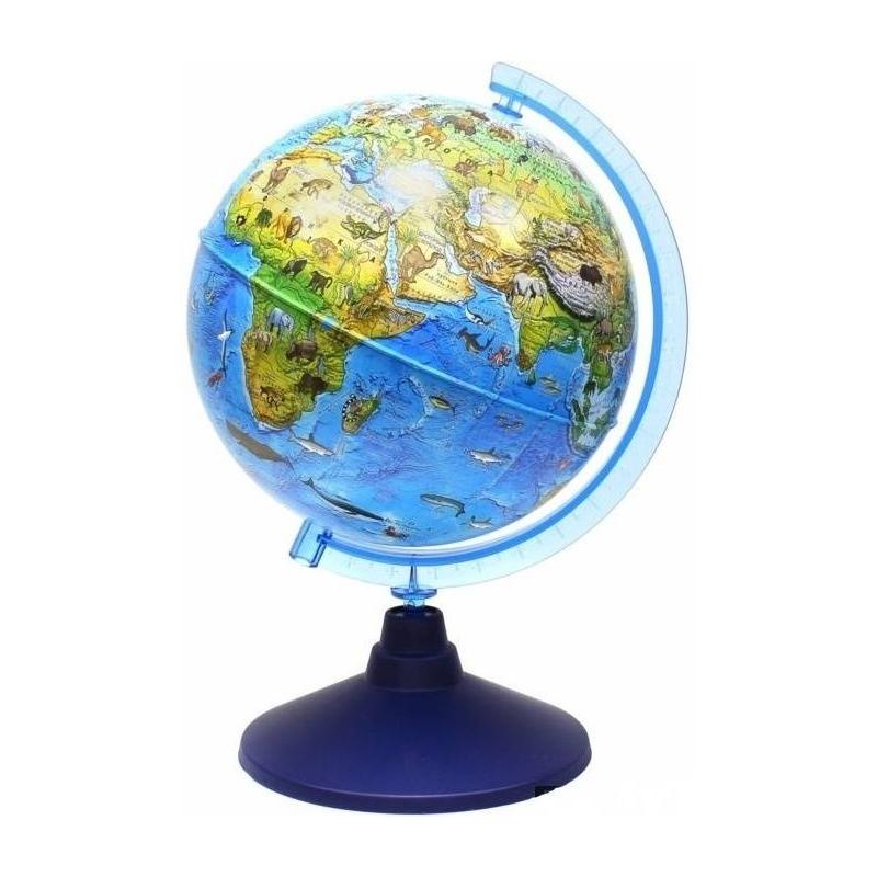 Зоогеографический глобус 210 мм