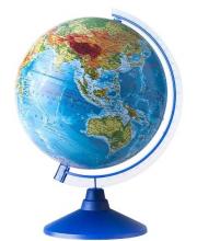 Физический глобус 250 мм