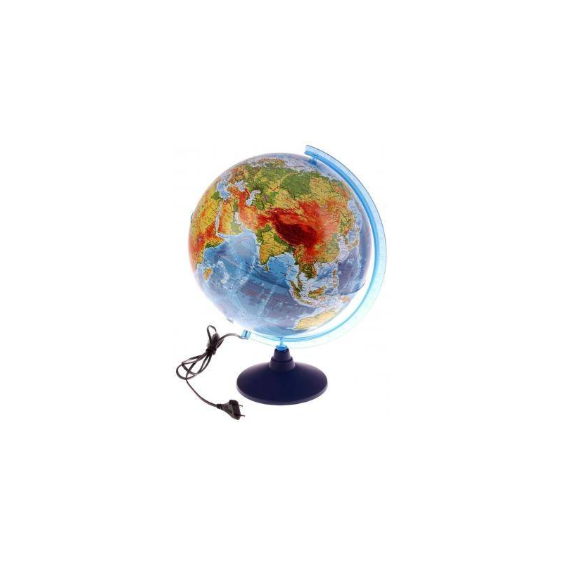GLOBEN Физико-политический рельефный глобус с подсветкой 320 мм globen глобус земли политический рельефный 320 серия евро