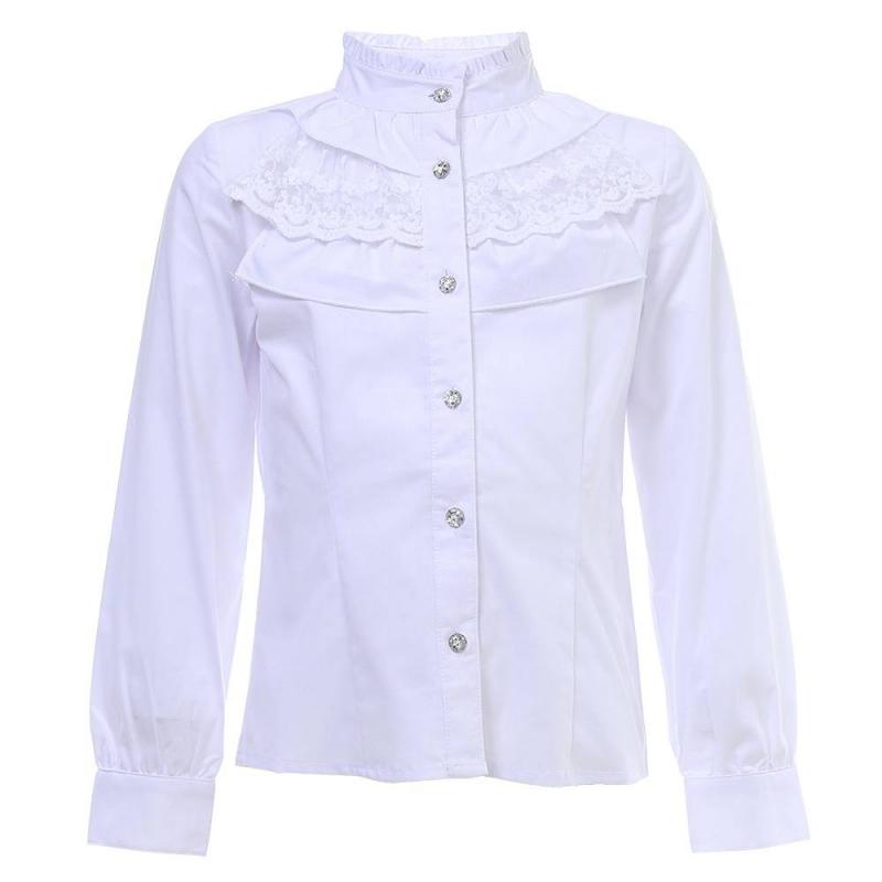 Купить Блузка, S'COOL!, Белый, 9 лет, 134, Для девочки, 444054, Всесезонный, Китай