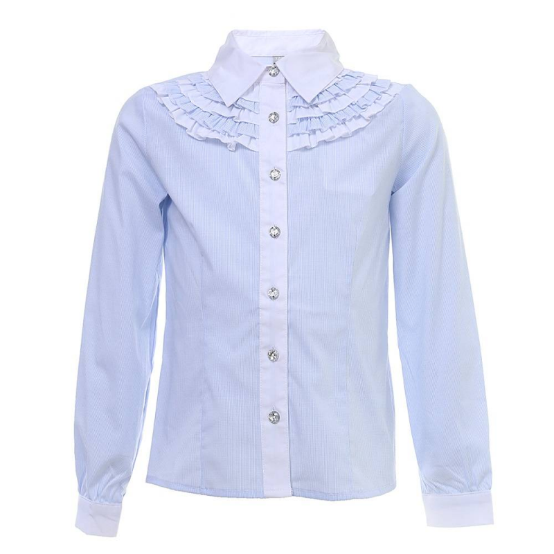 Купить Блузка, S'COOL!, Голубой, 10 лет, 140, Для девочки, 444073, Всесезонный, Китай