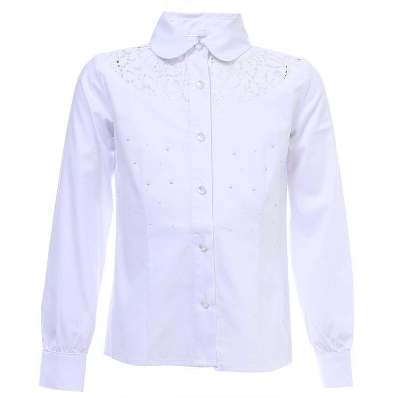 Купить Блузка, S'COOL!, Белый, 9 лет, 134, Для девочки, 444046, Всесезонный, Китай