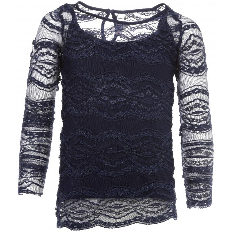 Купить Блузка, S'COOL!, Темносиний, 9 лет, 134, Для девочки, 444111, Всесезонный, Китай