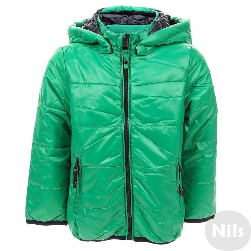 КурткаЗеленая легкая куртка марки Blue Seven для мальчиков. Демисезонная куртка с тонким слоем утеплителя имеет съемный капюшон и два кармана на молнии. Низ и манжеты отделаны эластичной тесьмой.<br><br>Размер: 12 месяцев<br>Цвет: Зеленый<br>Рост: 80<br>Пол: Для мальчика<br>Артикул: 612529<br>Бренд: Германия<br>Страна производитель: Китай<br>Сезон: Весна/Лето<br>Состав: 100% Полиамид<br>Вид застежки: Молния<br>Наполнитель: 100% Полиэстер