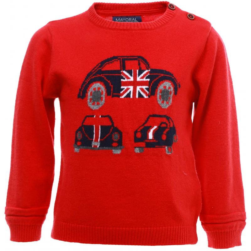 Купить Джемпер, MAYORAL, Красный, 12 месяцев, 80, Для мальчика, 443464, Осень/Зима, Китай
