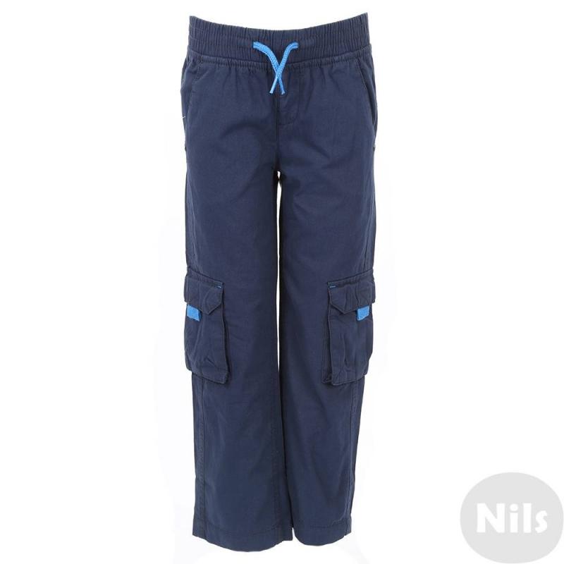 БрюкиТемно-синие брюки марки Blue Seven для мальчиков. Свободные брюки прямого кроя выполнены из чистого хлопка, пояс на широкойрезинке с декоративными завязками. Есть два кармана спереди, два задних кармана и два накладных кармана по бокам на штанинах.<br><br>Размер: 3 года<br>Цвет: Темносиний<br>Рост: 98<br>Пол: Для мальчика<br>Артикул: 612245<br>Страна производитель: Бангладеш<br>Сезон: Весна/Лето<br>Состав: 100% Хлопок<br>Бренд: Германия