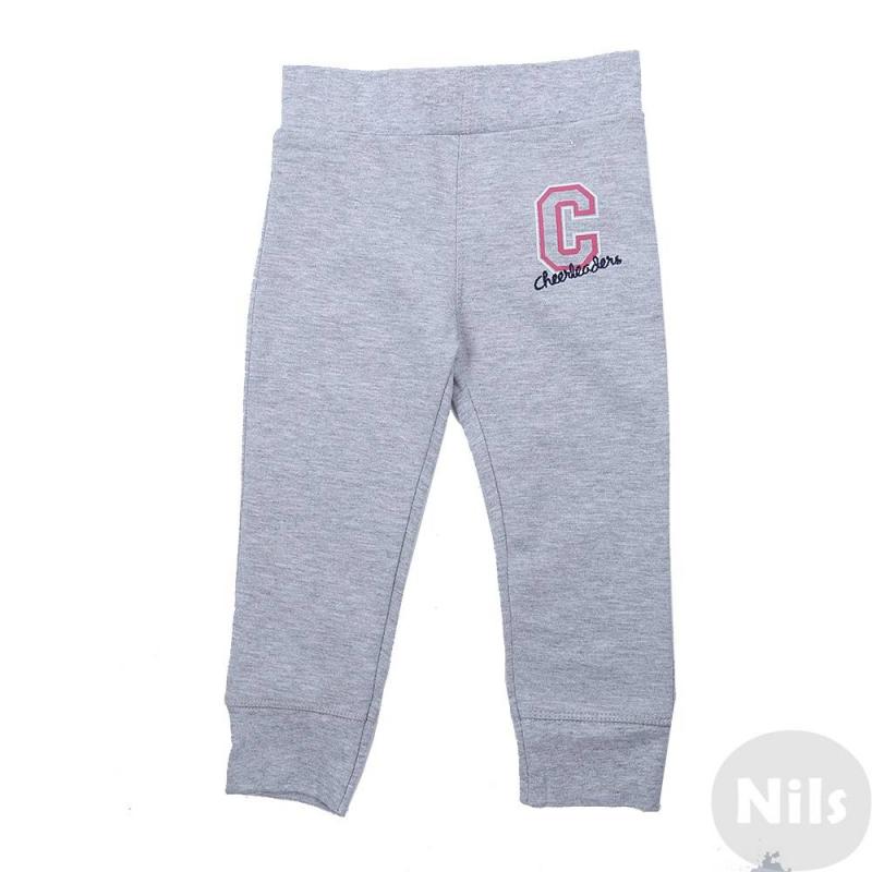БрюкиСерыеспортивные брюки марки Blue Seven для девочек. Удобные спортивные брюки выполнены из плотного хлопкового трикотажа, украшены принтом с вышивкой. Манжеты штанин эластичные, пояс на широкой резинке.<br><br>Размер: 6 месяцев<br>Цвет: Серый<br>Рост: 68<br>Пол: Для девочки<br>Артикул: 612976<br>Страна производитель: Бангладеш<br>Сезон: Весна/Лето<br>Состав: 90% Хлопок, 10% Вискоза<br>Бренд: Германия