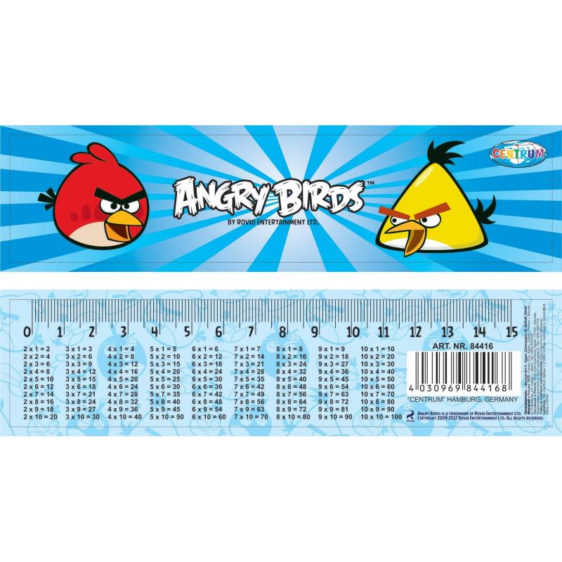 Линейка-закладка Angry birds от Nils