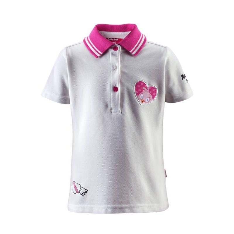 Рубашка-полоРубашка-поло белого цвета марки REIMA для девочки.Футболка выполнена из быстросохнущего и дышащего материала. На рубашку-поло нанесены принты в виде птичек Angry Birds. Футболка спереди застегивается на 3 пуговицы и обладает УФ-защитой (+40) от солнечных лучей.<br><br>Размер: 5 лет<br>Цвет: Белый<br>Рост: 110<br>Пол: Для девочки<br>Артикул: 613554<br>Страна производитель: Китай<br>Сезон: Весна/Лето<br>Состав: 61% Хлопок, 39% Полиэстер<br>Бренд: Финляндия