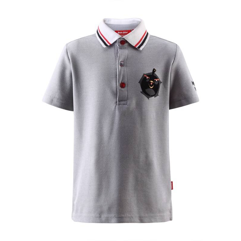 Рубашка-полоРубашка-поло серогоцвета марки REIMA для мальчика.Футболка выполнена из быстросохнущего и дышащего материала. На рубашку-поло нанесены принты в виде птичек Angry Birds. Футболка спереди застегивается на 3 пуговицы и обладает УФ-защитой (+40) от солнечных лучей.<br><br>Размер: 4 года<br>Цвет: Серый<br>Рост: 104<br>Пол: Для мальчика<br>Артикул: 613592<br>Страна производитель: Китай<br>Сезон: Весна/Лето<br>Состав: 61% Хлопок, 39% Полиэстер<br>Бренд: Финляндия