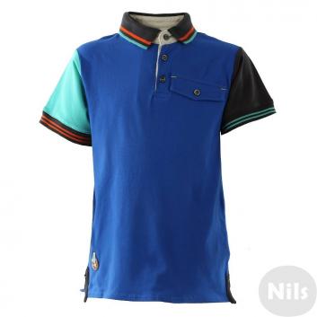 Малыши, Рубашка-поло DEUX PAR DEUX (синий)613355, фото