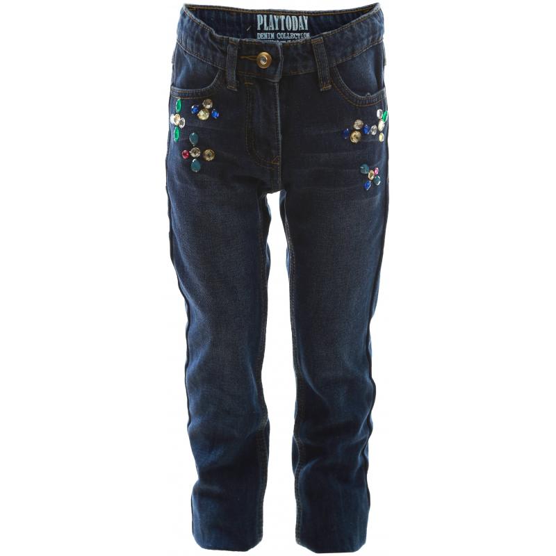 PlayToday Джинсы брюки джинсы и штанишки playtoday брюки текстильные для девочек для девочек рок принцесса 182003