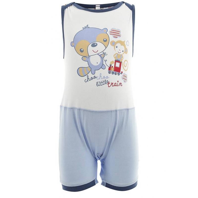 ПесочникПесочник голубого цвета маркиSoni Kids для мальчиков.<br>Песочник без рукавов выполнен из хлопка и декорирован синей окантовкой, а также милым изображением енота и мартышки. Модель дополнена кнопками по шаговому шву для удобства переодевания малыша.<br><br>Размер: 3 месяца<br>Цвет: Голубой<br>Рост: 62<br>Пол: Для мальчика<br>Артикул: 000499<br>Страна производитель: Россия<br>Сезон: Весна/Лето<br>Состав: 100% Хлопок<br>Бренд: Россия
