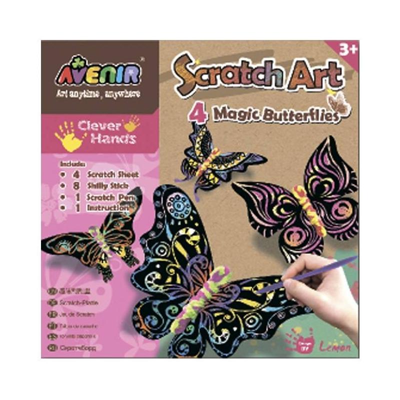 Avenir Набор для гравировки Волшебные бабочки наборы для творчества avenir набор для гравировки волшебные птички