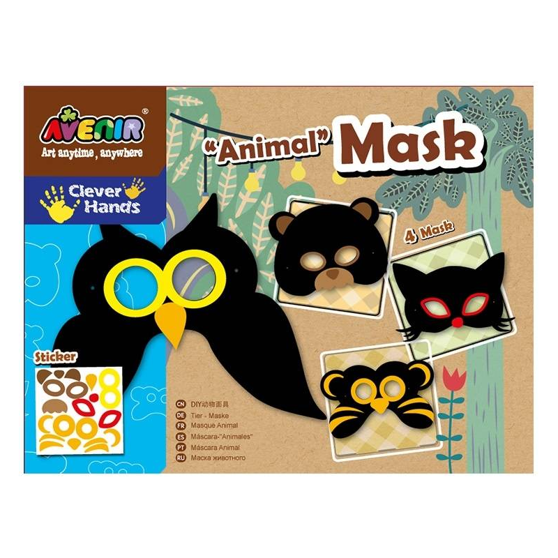 Avenir Набор для декорирования масок Животные наборы для рисования avenir набор для рисования